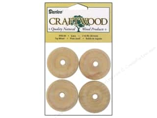"Darice $4 - $5: Darice Wood Craftwood Toy Wheel 1.5"" 4pc"