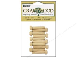 "Darice Wood Craftwood Axle Peg 1.25"" 10pc"
