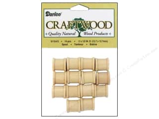 "wood beads: Darice Wood Craftwood Spool .5""x .5"" 14pc"