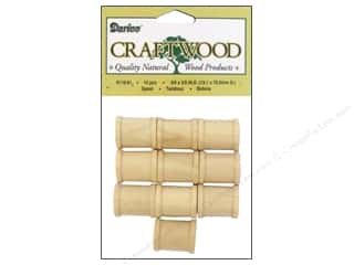 "wood beads: Darice Wood Craftwood Spool .75""x 5/8"" 10pc"