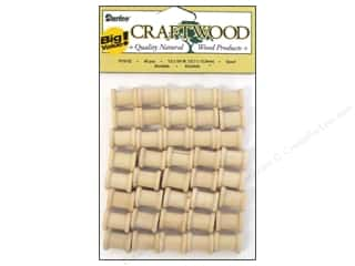 "wood beads: Darice Wood Craftwood Spool .5""x 5/8"" 40pc"