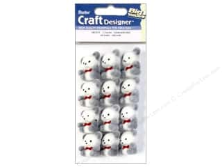 "Teddy Bears Crafting Kits: Darice Decor Flocked Bear 1"" Fuzzy Panda 12pc"