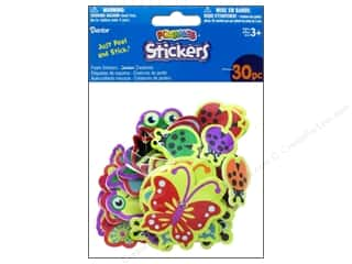 Clearance Darice Foamies Sticker: Darice Foamies Stickers 30 pc. Garden Creatures