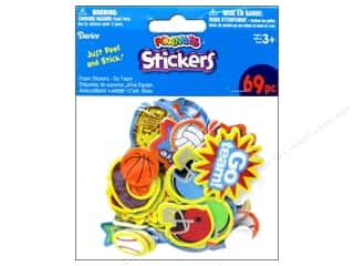 Kids Crafts Sports: Darice Foamies Sticker Go Team 69pc