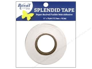 Bosal Fusible Web: Bosal Splendid Tape Paper Backed Fusible Web 1/2 in. x 25 yd.