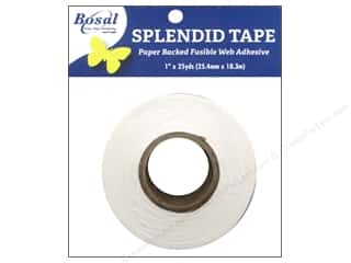 Fusible Web: Bosal Splendid Tape Paper Backed Fusible Web 1 in. x 25 yd.