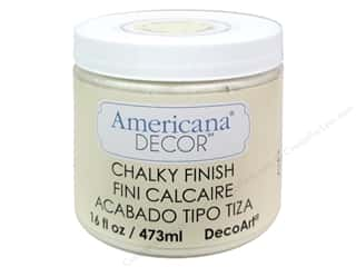 Finishes 16 oz: DecoArt Americana Decor Chalky Finish Whisper 16oz