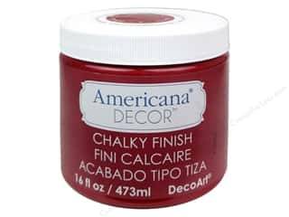 Stock Up Sale Adhesive: DecoArt Americana Decor Chalky Finish 16 oz. Rouge