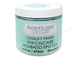 Finishes 16 oz: DecoArt Americana Decor Chalky Finish Refreshing 16oz