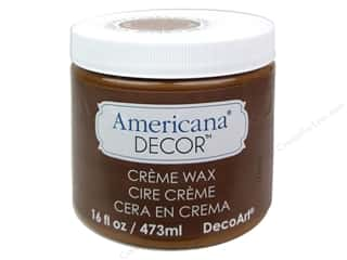 Decoart Brown: DecoArt Americana Decor Creme Wax Golden Brown 16oz