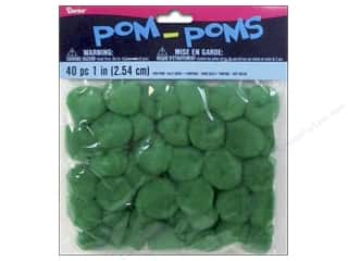 Kelly's Basic Components: Darice Pom Poms 1 in. (25 mm) Kelly Green 40 pc.