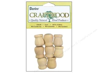 "Darice Wood Craftwood Candle Cup Mini 5/8"" 8pc"