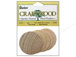 "Ornaments $5 - $15: Darice Wood Craftwood Nickel 1.5""x 1/8"" 6pc"
