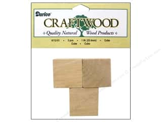 "Woodworking Projects & Kits: Darice Wood Craftwood Cube 1"" 3pc"
