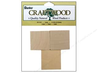 "Woodworking Projects & Kits: Darice Wood Craftwood Cube 1.25"" 3pc"