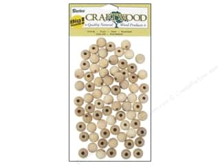 wood beads: Darice Wood Craftwood Round Bead 12mm 75pc