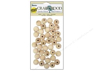Darice Wood Craftwood Round Bead 16mm 40pc