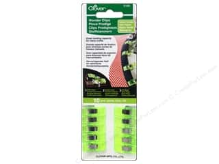 Hardware Green: Clover Wonder Clips 10 pc. Neon Green