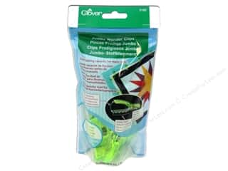 Hardware Green: Clover Jumbo Wonder Clips 24 pc. Neon Green