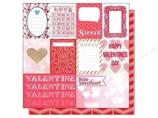 Note Cards Love & Romance: Echo Park 12 x 12 in. Paper Lucky In Love Journaling Card (25 pieces)