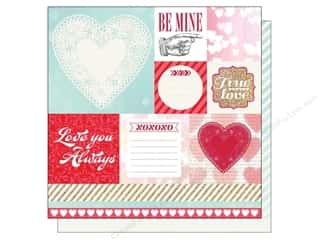 Echo Park Paper Company Valentine's Day: Echo Park 12 x 12 in. Paper Lucky In Love Be Mine (25 pieces)