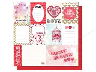 Echo Park Paper Company Valentine's Day: Echo Park 12 x 12 in. Paper Lucky In Love Love This (25 pieces)