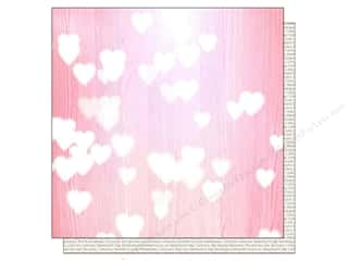 Echo Park Paper Company Love & Romance: Echo Park 12 x 12 in. Paper Lucky In Love Pink Hearts (25 pieces)