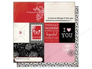Love & Romance New Year: Carta Bella 12 x 12 in. Paper Words of Love Journaling Card (25 pieces)