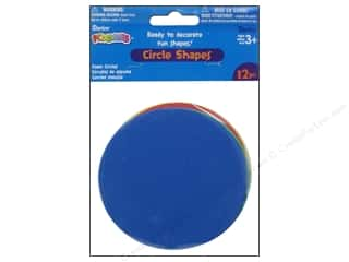 Darice Craft Foam: Foamies Foam Circle Shapes 4 in. Value Pack Assorted 12 pc.