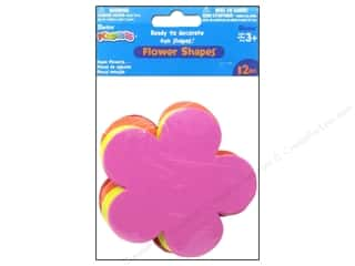 Darice Craft Foam: Foamies Flower Shapes 4 1/2 in. Value Pack Assorted 12 pc.