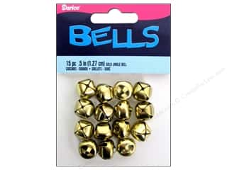Darice Jingle Bells 1/2 in. Gold 15 pc.
