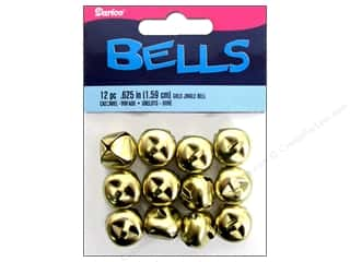 Darice Jingle Bells 5/8 in. Gold 12 pc.