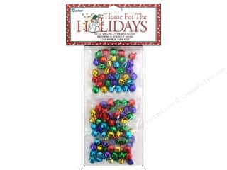 Clearance Basic Components: Darice Jingle Bells 1/2 in. Assorted Color 108 pc.