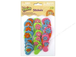 Darice Felties Sticker Flip Flops with Gems 20pc