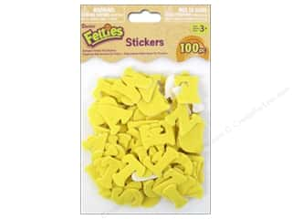 Felt ABC and 123: Darice Felties Sticker Alphabet Yellow 100pc