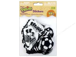 Sports Felting: Darice Felties Sticker Soccer 44pc