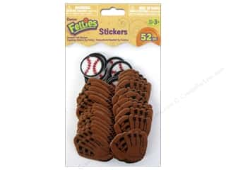 Darice Sports: Darice Felties Sticker Baseball 52pc