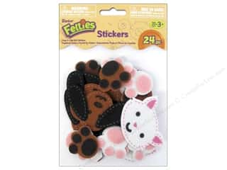 "Stickers 24"": Darice Felties Sticker Stitched Dogs & Cats 24pc"
