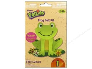 Rhinestones Projects & Kits: Darice Felties Felt Activity Kit Frog 6""
