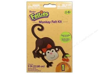 Weekly Specials Needle Felting: Darice Felties Felt Activity Kit Monkey 9""