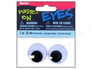 Googly Eyes by Darice Paste-On 25 mm Black 2 pc.