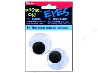 Googly Eyes by Darice Paste-On 35 mm Black 2 pc.