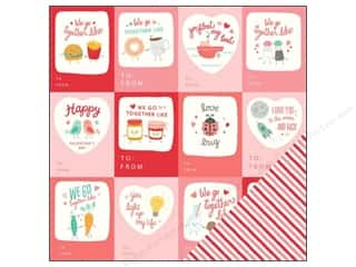 "New Love & Romance: Pebbles We Go Together Collection Paper 12""x 12"" (25 pieces)"