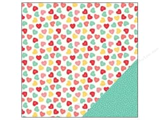 "Love & Romance: Pebbles We Go Together Collection Paper 12""x 12"" U R Sweet (25 pieces)"