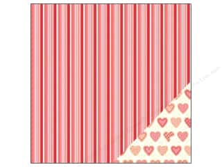 "Love & Romance Scrapbooking & Paper Crafts: Pebbles We Go Together Collection Paper 12""x 12"" Sweet Heart (25 pieces)"