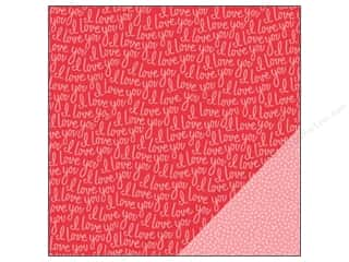 "Love & Romance New: Pebbles We Go Together Collection Paper 12""x 12"" I Love You (25 pieces)"