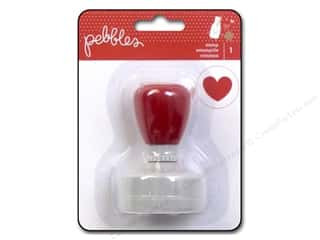 Stamped Goods Valentine's Day Gifts: Pebbles We Go Together Collection Stamps Self Inking Heart