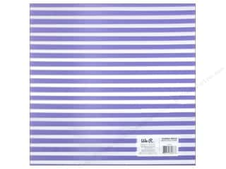 Plastic / Acetate Sheets: We R Memory Keepers Acetate Sheet 12 x 12 in. Clearly Bold Neon Purple Stripe (12 pieces)
