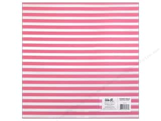 Plastics New: We R Memory Keepers Acetate Sheet 12 x 12 in. Clearly Bold Neon Pink Stripe (12 pieces)