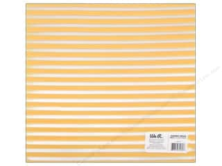 Plastics New: We R Memory Keepers Acetate Sheet 12 x 12 in. Clearly Bold Neon Yellow Stripe (12 pieces)